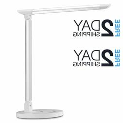 TaoTronics LED Desk Lamp, Dimmable Office Lamp with USB Char
