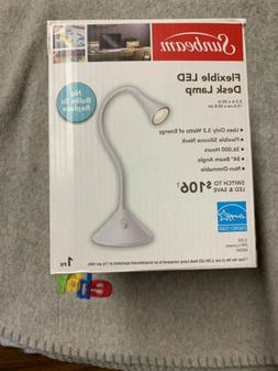 led desk lamp white with flexible silicone