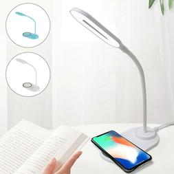 LED Desk Lamp Wireless Charger for iPhone/Samsung/All Qi Ena