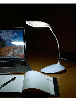 LED Desk Lamp with Flexible Gooseneck 3 Level Brightness for
