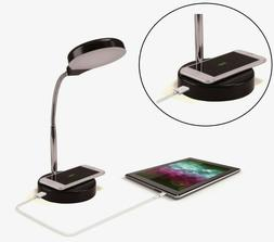 LED Desk Lamp with Qi Wireless Charging and USB Port Touch A