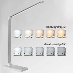 LED Desk Lamp with USB Charging Port 5 Lighting Modes Dimmab