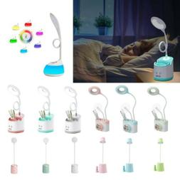 LED Desk Light Bedside Reading Lamp Dimmable Rechargeable Mu