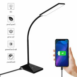 LED Dimmable Desk Table Reading Lamp With USB Charging Port
