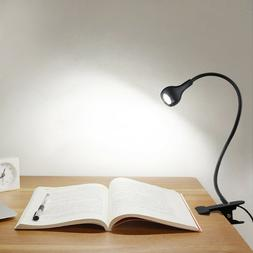 LED Flexible USB Reading Light Clip-On Beside Bed Table Desk