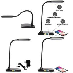 LED Lighting Ivy Office Computer Table Desk Lamp With USB Ch