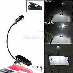 LED Table Lamp Clip Reading Book Light Adjustable Gooseneck
