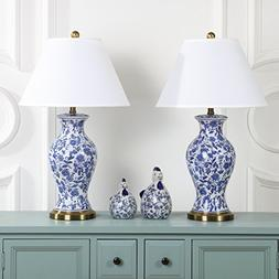 Safavieh Lighting Collection Beijing Floral Urn Blue and Whi