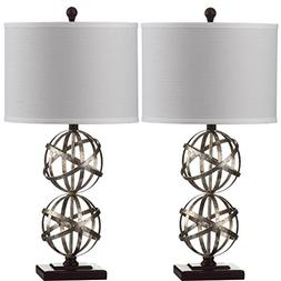 Safavieh Lighting Collection Haley Double Spher Antique Silv