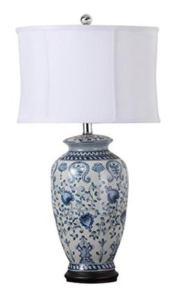 Safavieh Lighting Collection Paige Blue And White Jar 29-inc
