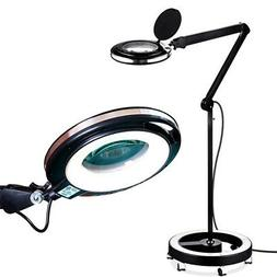 Brightech Lightview Pro Magnifying Floor Lamp with Rolling W