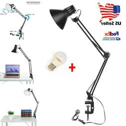 long arm desk lamp work reading adjustable