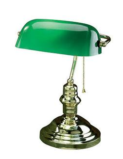 Lite Source LS-224PB Banker Desk Lamp Polished Brass