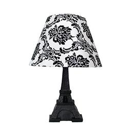 Simple Designs Home LT3010-DSK Eiffel Tower Lamp with Printe