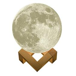 Luna Night light 3D Printing Moon Shaped Lamp Touch Switch C