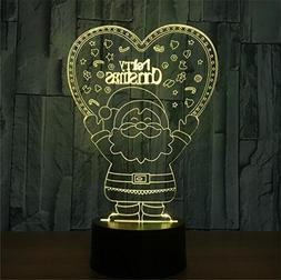 LUCKY CLOVER-A Merry Christmas Elk 3D LED 7 Color Optical Il