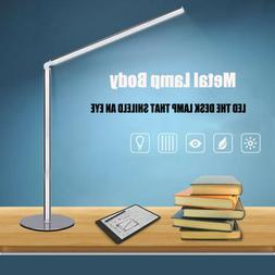 Metal Bedroom Eye Care Desk Lamp Home Office Dimmable LED Re