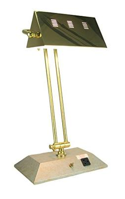 Metal & Resin Table Lamps Brass Color Contemporary Bankers L