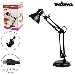 Metal Swing Arm Multi-Joint Desk Lamp with Interchangeable H