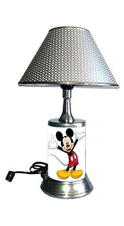 JS Mickey Mouse Lamp with Chrome Shade