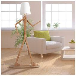 HROOME Modern Contemporary Decorative Wooden Floor Lamp Ligh