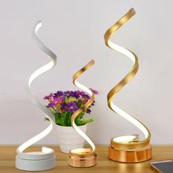 Spiral LED Table Lamp, Curved LED Desk Lamp, Contemporary Mi