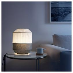 """Modern Small Table Lamp White/Gray 13"""" Spreads Diffused Ligh"""