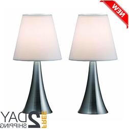 Modern Stand Table Lamps 2 Set Lamps Touch Sensor Bedroom Ni