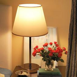 Bedside Table Lamp Fabric Shade Lamp Desk Light Bedroom Livi