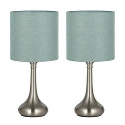 HAITRAL Table Desk Lamps Unique Modern Nightstand Set of 2-F