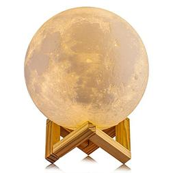 Gahaya Moon Lamp, 3D Printed Light, Touch Control, Stepless