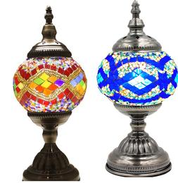 mosaic turkish lamp table glass moroccan style