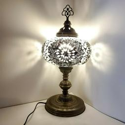 Mosaic Turkish Moroccan Table Bedside Desk Tiffany Lamp Chry