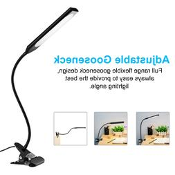Multi-Color LED Eye-Caring Desk Lamp with USB Charging Port