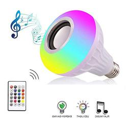 Anferstore 12W White LED Music Light Bulb with Bluetooth Spe