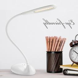 New LED Gooseneck Desk Lamp Dimmable Portable Night Light To