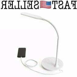 Newhouse Lighting NHSLIM-WH USB Dimmable LED Desk Lamp, Whit