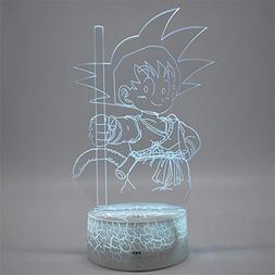 Dragon Ball Z Son Goku 3D Night Light Remote Control Touch S