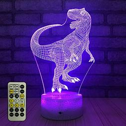 FlyonSea Night Lights Kids Bedside Lamp 7 Colors Change Remo