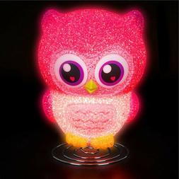 OWL LAMP girls kids children room table bed desk night light