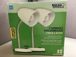 Package of 2 New In Box  White FEIT Electric Compact Fluores