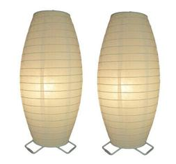 Paper Table Lamps Catalina Lighting Oval White Rice Paper Ta