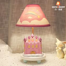 Pink Children's Room Princess Desk Lamps Decoration Table La