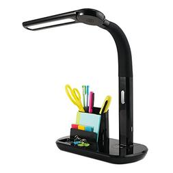 OttLite LED Pivoting Bankers Lamp with USB Charging Port | T