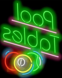 Pool Tables Neon Sign w/Balls