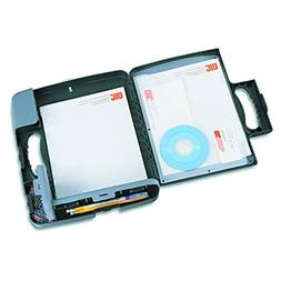 Officemate Portable Clipboard Storage Case, Charcoal