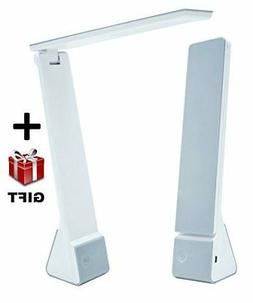 Portable LED Desk Lamp with Rechargeable Battery Travel Size