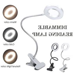 portable led ring light clip on bed