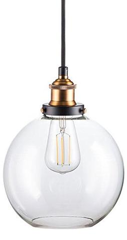 Primo LED Industrial Kitchen Pendant Light - Antique Brass H