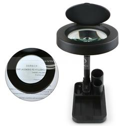 Pro Magnifying Crafts Glass Desk Lamp With 5X 10X Magnifier